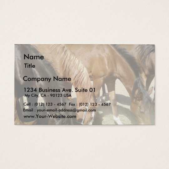 Group Of Horses Business Card