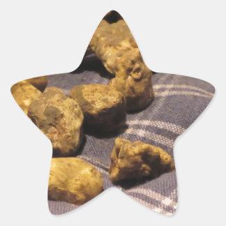 Group of italian expensive white truffles star sticker