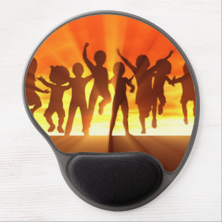 Group of Kids Having Fun as a Abstract Background Gel Mouse Pad