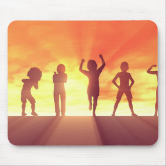 Group of Kids Having Fun as a Abstract Background Mouse Pad