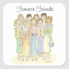 Group of Ladies Forever friends Square Sticker
