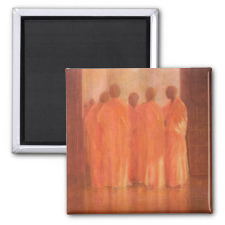 Group of Monks Vietnam 2 Inch Square Magnet