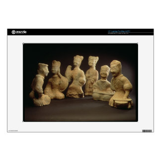 """Group of Musicians, Dancers and Servants (terracot 15"""" Laptop Decal"""