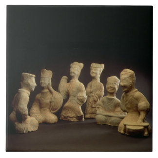 Group of Musicians, Dancers and Servants (terracot Ceramic Tiles