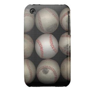 Group of old baseballs on black background iPhone 3 cases
