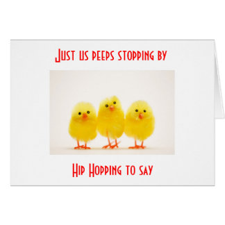 GROUP OF PEEPS SAY HIP HOP BY EASTER WISH CARD