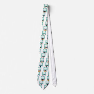 Group of penguin on the ice neck tie