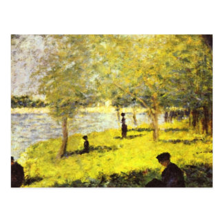 Group of people by Georges Seurat Postcard