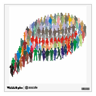 group of people in the form of bubble wall decal