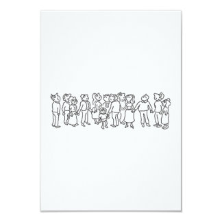 Group of People Looking Up Card