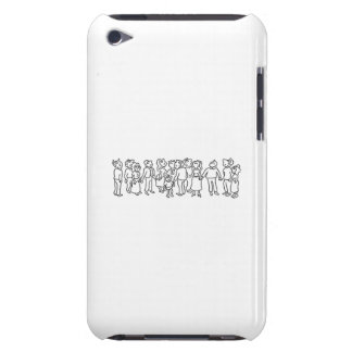 Group of People Looking Up iPod Case-Mate Case