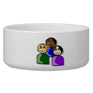 Group of People Pet Bowls