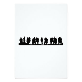 Group of People Silhouette Card