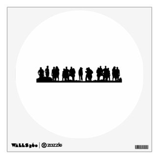Group of People Silhouette Wall Skin