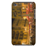 Group of people sitting at a sidewalk cafe, iPod touch case