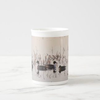 Group of Pintail Ducks Gather and Swims in a lake Porcelain Mugs