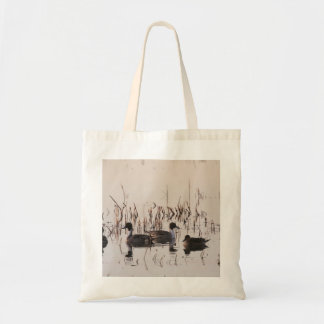 Group of Pintail Ducks Gather and Swims in a lake Tote Bag