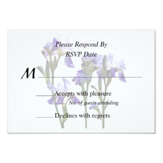 Group of Purple Irises Wedding Products Card
