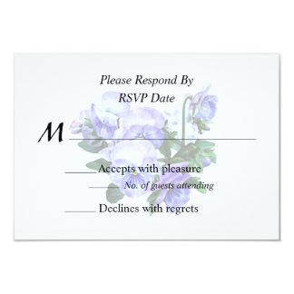 Group of Purple Pansies and Leaves Wedding Product Card