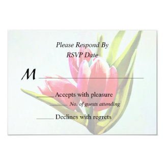 Group of Red Tulips Card