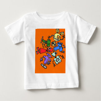 Group of robots 3 baby T-Shirt