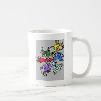 Group of robots 4 classic white coffee mug