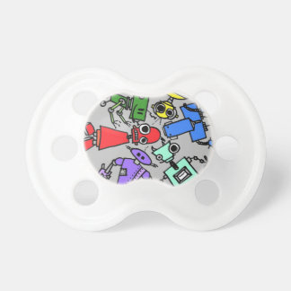 Group of robots 4 pacifier