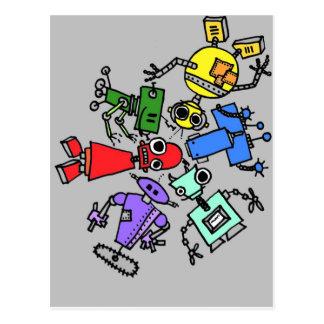 Group of robots 4 postcard