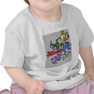 Group of robots 4 t shirt
