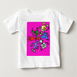 Group of robots 5 baby T-Shirt