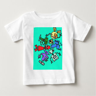 Group of robots 6 baby T-Shirt