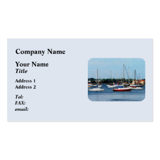 Group of Sailboats Newport RI Double-Sided Standard Business Cards (Pack Of 100)