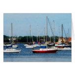Group of Sailboats Newport RI Card