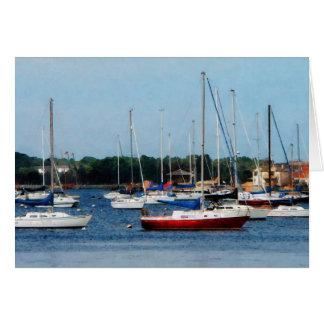 Group of Sailboats Newport RI Greeting Card