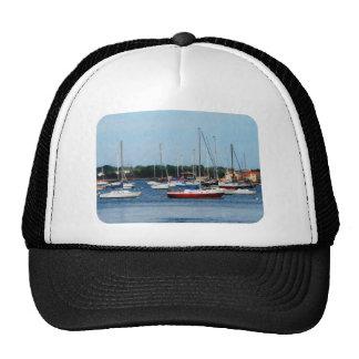 Group of Sailboats Newport RI Mesh Hat