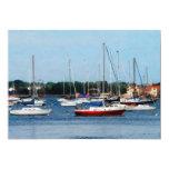 Group of Sailboats Newport RI 5x7 Paper Invitation Card