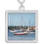 Group of Sailboats Newport RI Necklace