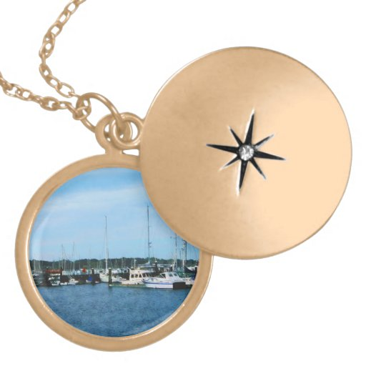 Group of Sailboats Newport RI Personalized Necklace
