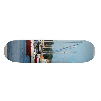 Group of Sailboats Newport RI Skate Decks