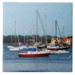 Group of Sailboats Newport RI Tiles