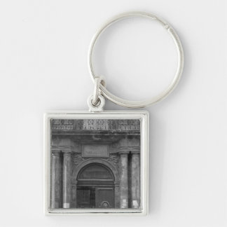 Group of schoolboys leaving the Hotel de Ville Silver-Colored Square Keychain