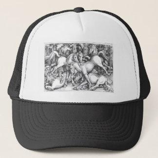 Group of Seven Wild Horses by Hans Baldung Trucker Hat