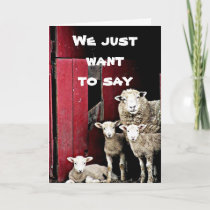 """GROUP OF SHEEP"" WISH YOU ""HAPPY BIRTHDAY"" CARD"