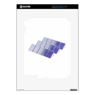 Group of solar panels skin for the iPad 2