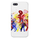 Group of standing stick figures finger painting re iPhone 5 covers