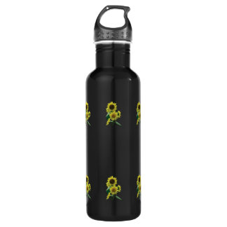 Group of Sunflowers 24oz Water Bottle