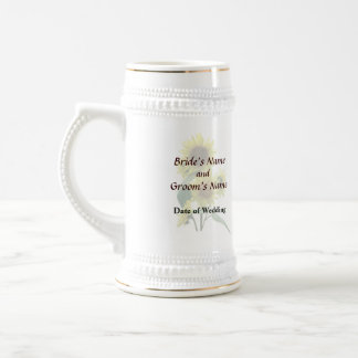 Group of Sunflowers Wedding Products Beer Stein