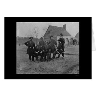 Group of Surgeons at Fort Harrison, VA 1865 Card