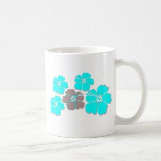 Group of Teal Hibiscus Coffee Mug