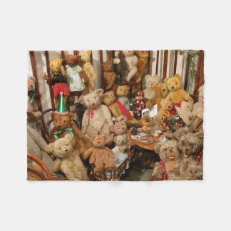 Group Of Teddybears Fleece Blanket